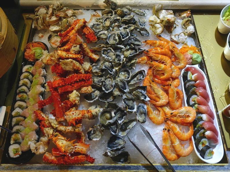 Seafood Buffet at the Conrad Maldives