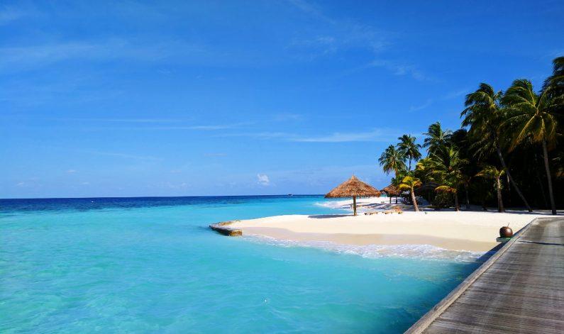 Alone at the Conrad Maldives Beach