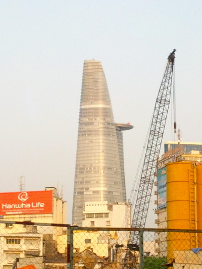 Avengers Tower View from the Banh Canh Cua Vendor Saigon