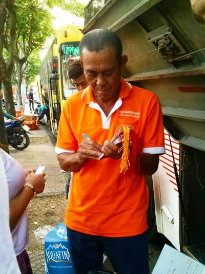 Bag Claim Tickets on Mekong Express