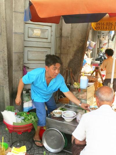 Banh Canh Cua Street Vendor Saigon
