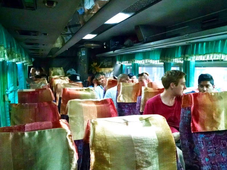 Bus Interior on Mekong Express