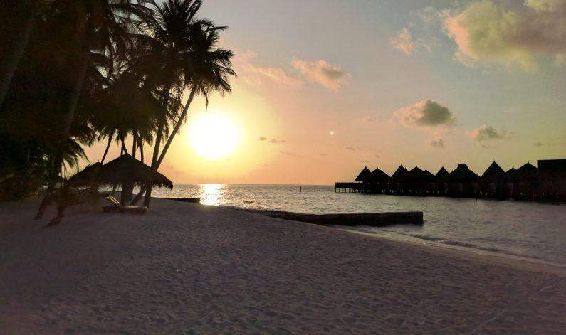 Conrad Maldives Beach Sunset