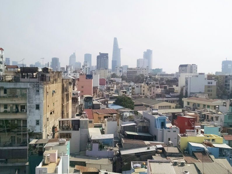 Daytime View from the Duc Vuong Rooftop Bar in Saigon
