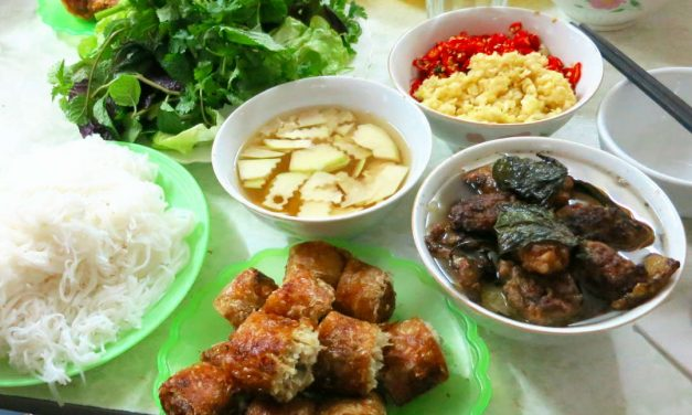 Northern Vietnamese Cuisine at Bun Cha Duc Biet Kim