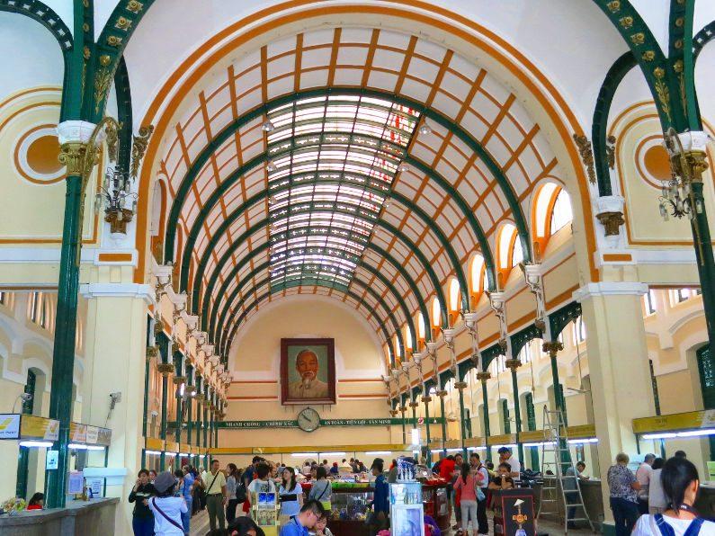 Inside the Saigon Central Post Office