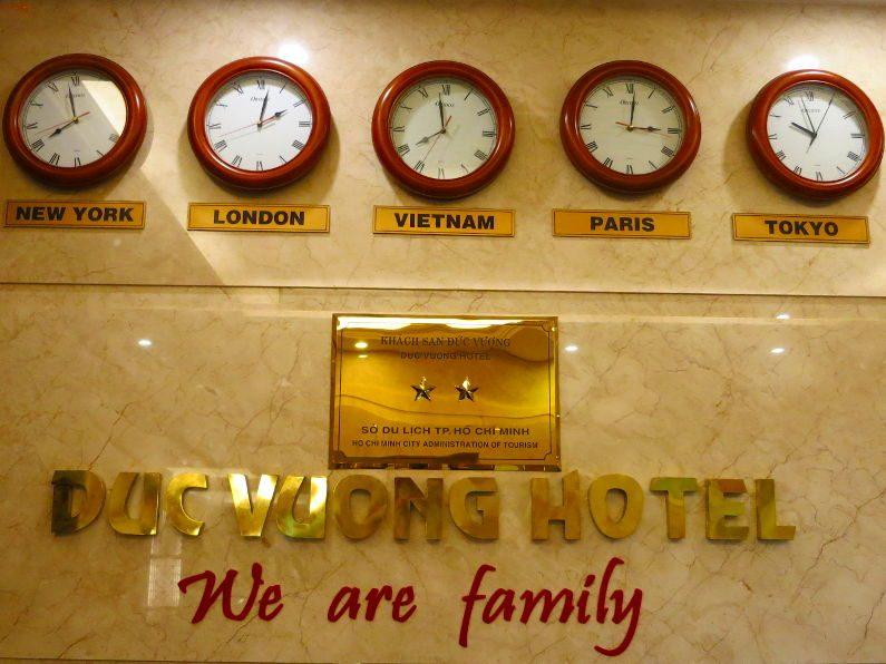 Lobby Clocks at Duc Vuong Hotel Saigon