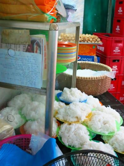 Mountains of Rice Noodles at Bun Cha Dac Kim Hanoi