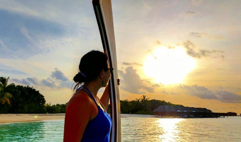 Nadia Sailing into the Sunset on the Conrad Maldives Ferry