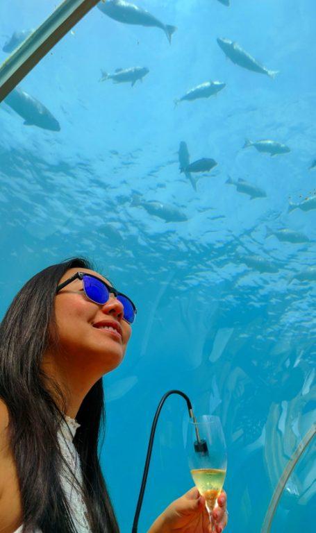 Nadia at Conrad Maldives Underwater Restaurant Ithaa