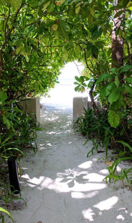 Private Conrad Maldives Suite Path to the Beach