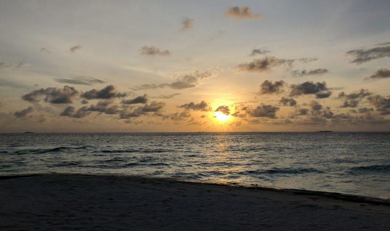 Sunset Beachside at the Conrad Maldives