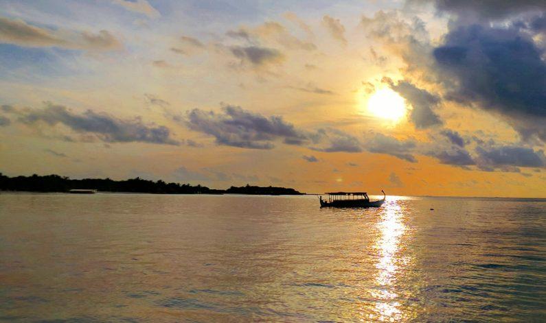 Sunset Over the Conrad Maldives Ferry