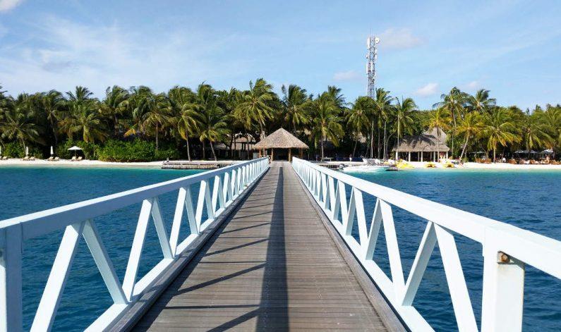 The Long Walk Back on the Bridge to the Main Conrad Maldives Island