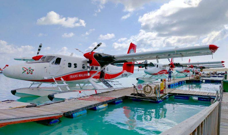 Trans Maldivian Airways Seaplane to Conrad Maldives