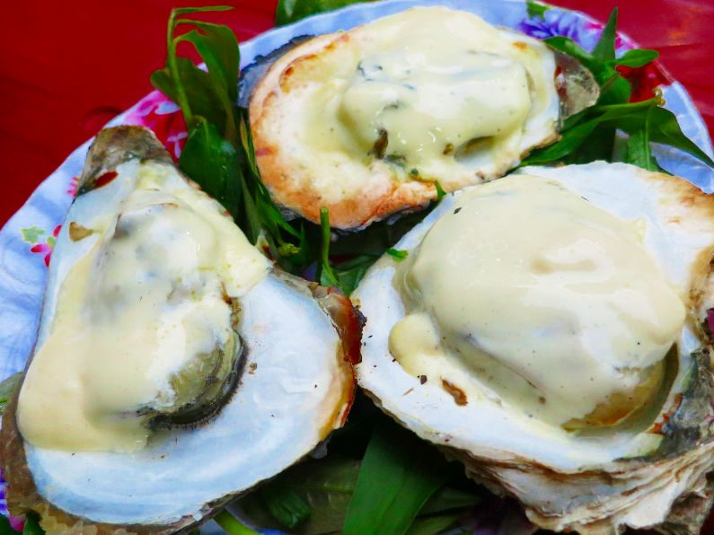 Cheese Covered Oysters at Quan Oc Co Sang Saigon