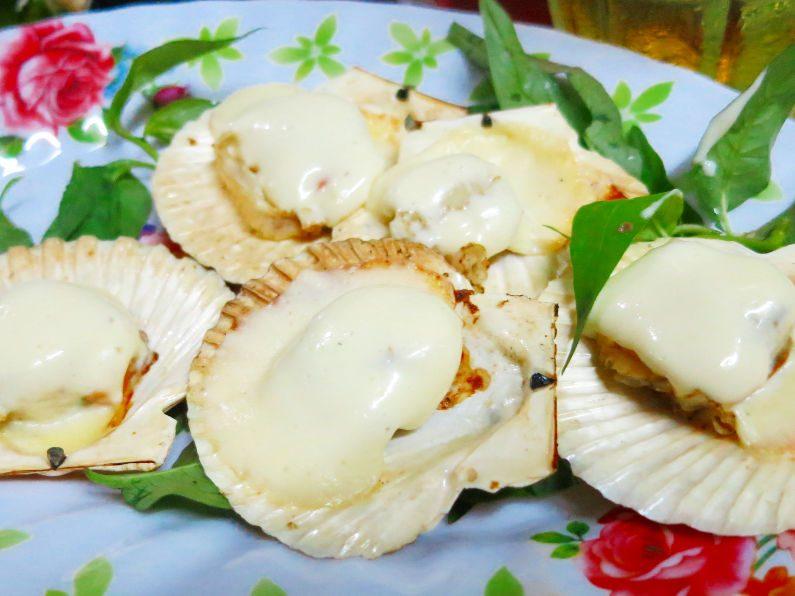 Cheese Slathered Clams at Quan Oc Co Sang Saigon