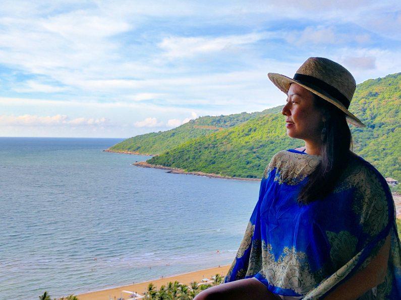 Nadia Looking at the Ocean at the Intercontinental Da Nang