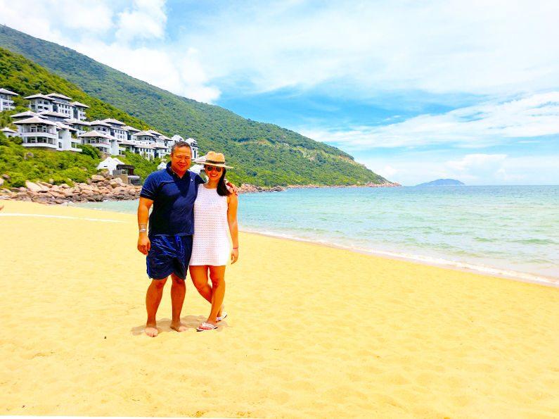 Nadia and JM at the Intercontinental Da Nang Beach