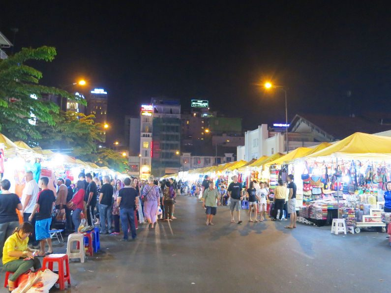 Night Activity at Binh Tay Market Saigon