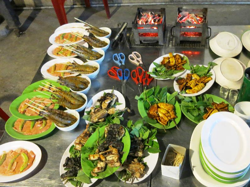 Our Prepared Grill Table During XO Tours Saigon