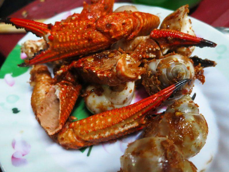 Wok Fired Shellfish at Quan Oc Co Sang Saigon
