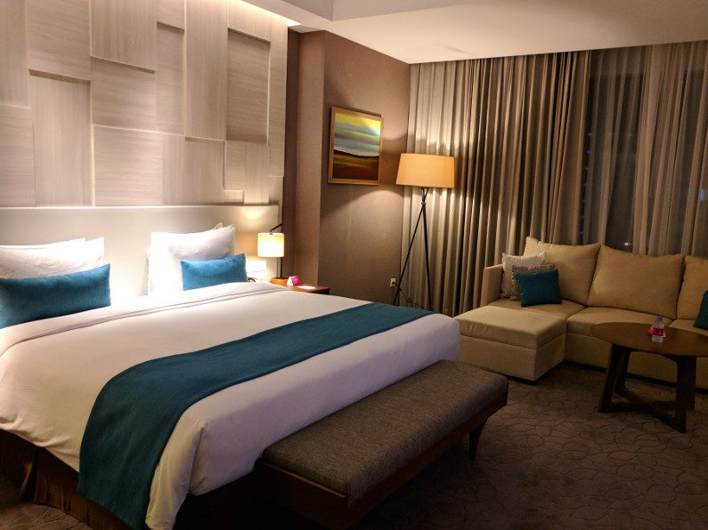 Bedroom Suite at the Crowne Plaza in Bandung Indonesia