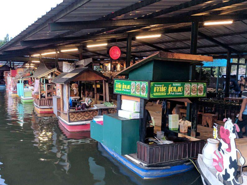 Boats at the Floating Market Bandung
