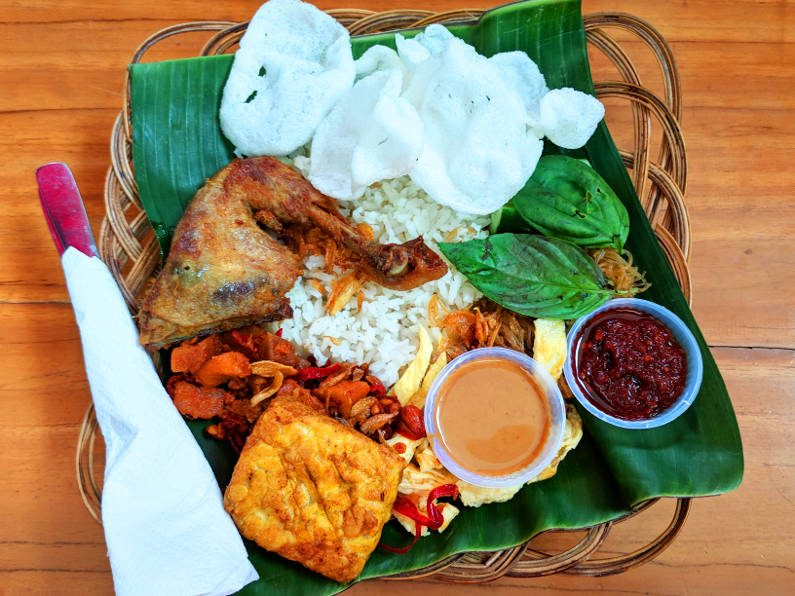 Chicken at Rumah Mode in Bandung Indonesia