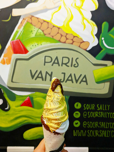 Gold Cone and Sour Sally Wall in Bandung Indonesia