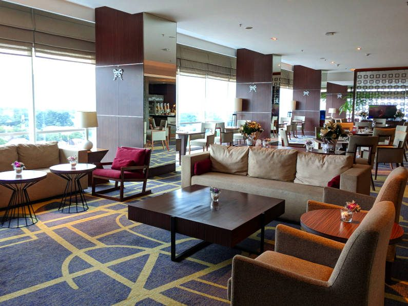 Lounge Area at the Crowne Plaza in Bandung Indonesia