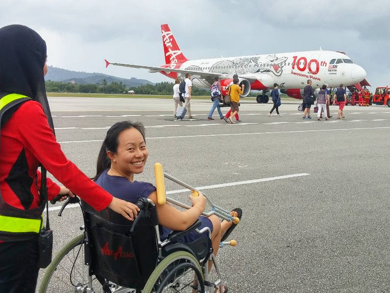 Nadia Rolled Out to the Air Asia Plane in Langkawi