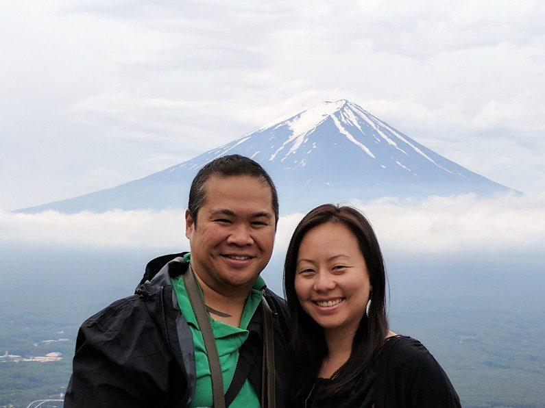 Nadia and JM Near Mt Fuji Japan