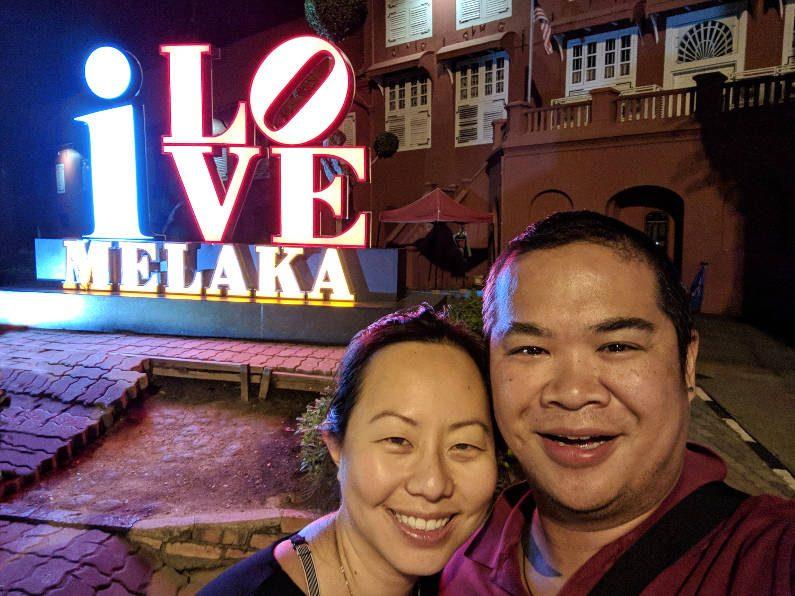 Nadia and JM at I Love Melaka Night Light