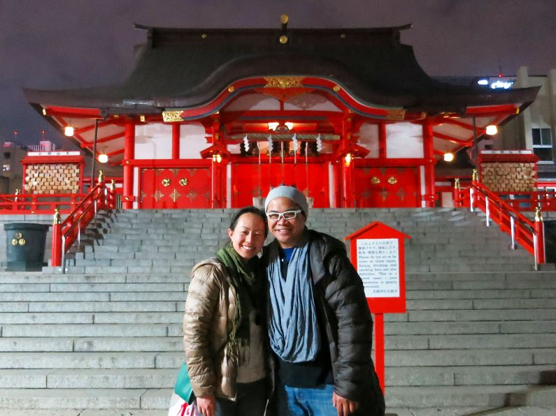 Nadia and JM at a Random Temple in Tokyo