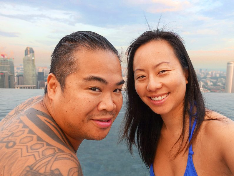 Nadia and JM in Singapore at MBS