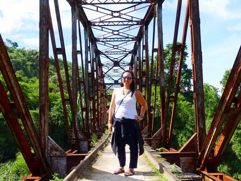 Nadia at the Old Bandung Train Bridge