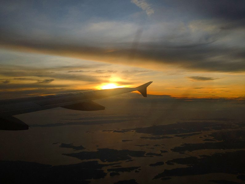 Sunset on the Horizon on the Flight to Bandung Indonesia