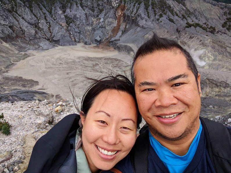 Windy Nadia and JM at White Crater Bandung