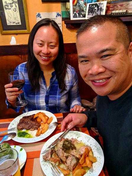 El Alambique Nadia and JM Dinner