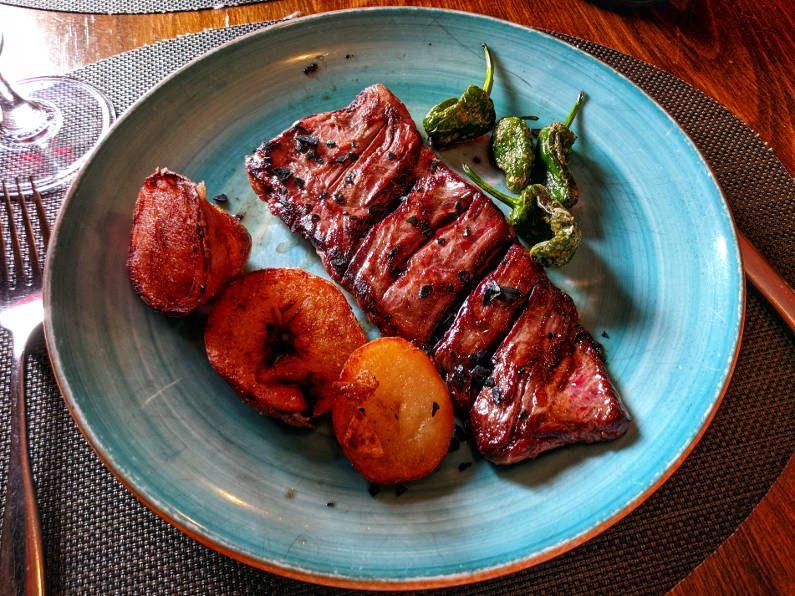 La Tragantúa Steak and Potatoes