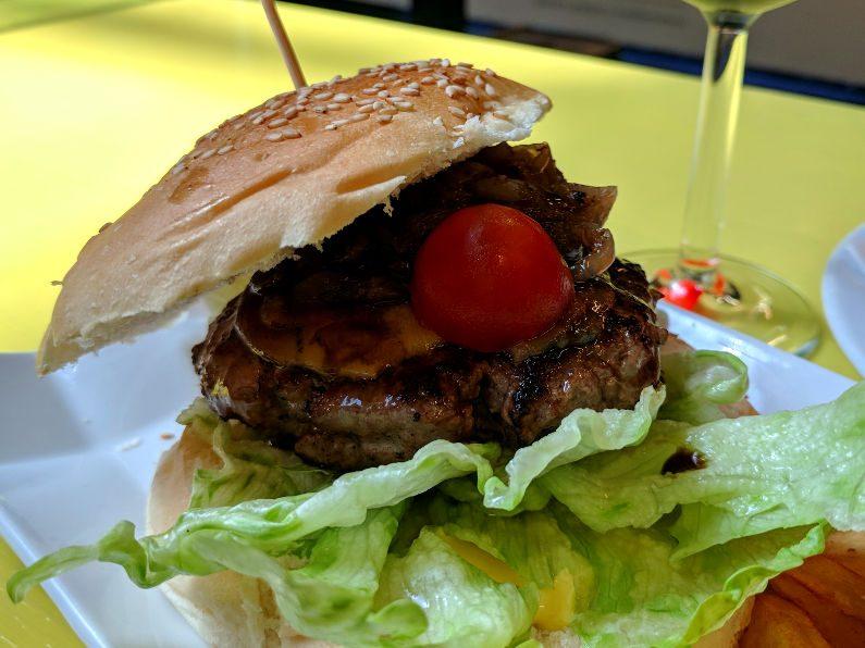 Mercado de San Antón Foie Burger Close Up