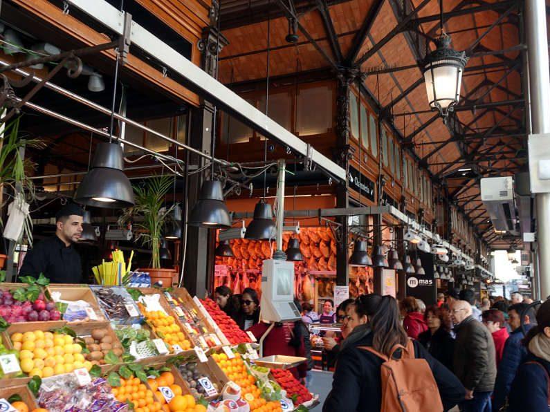 San Miguel Market Fruit Counter