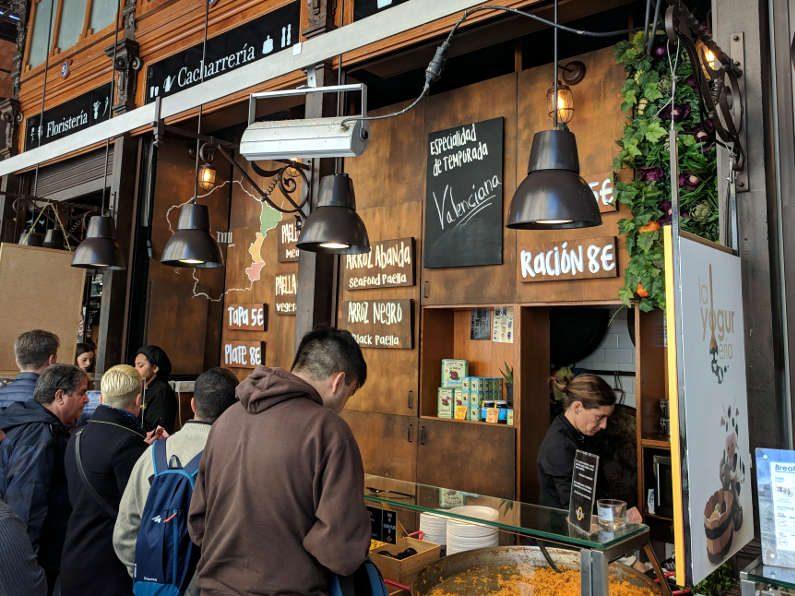 San Miguel Market Paella Counter