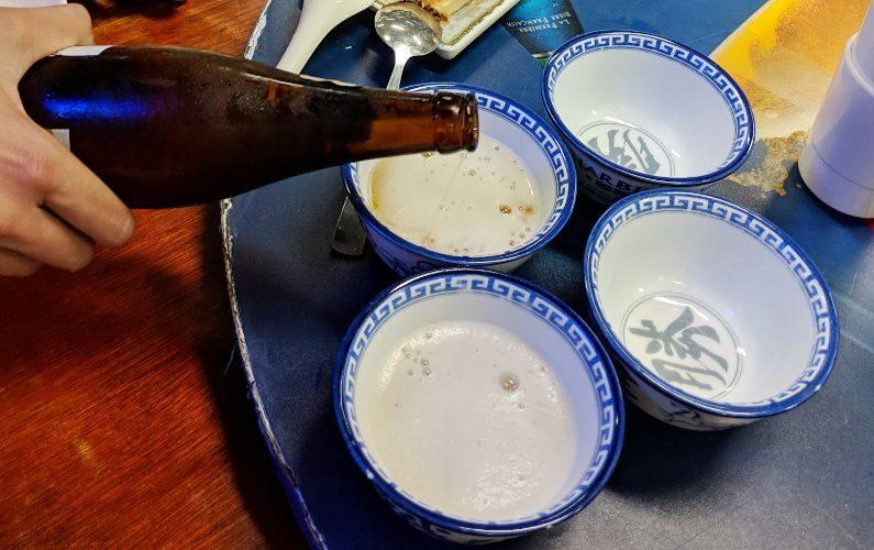 Beer Pouring Tung Po Kitchen Hong Kong