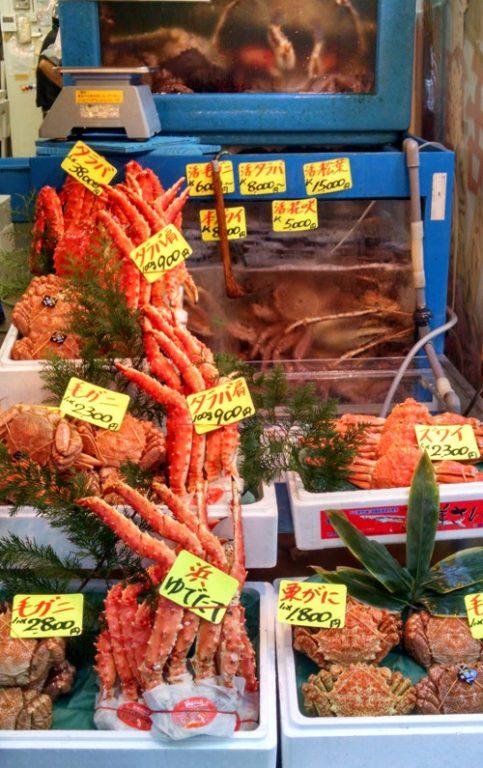 Crab Seller Tsukiji Market Tokyo Japan 04