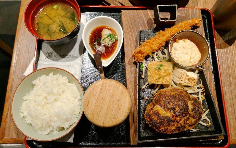 Hamburger Plate Hamburg Steak Keisuke Singapore
