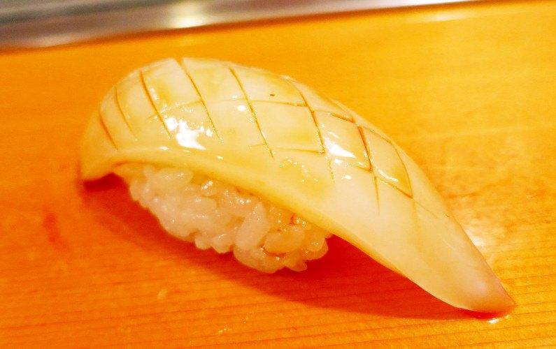 Ika Nigiri Sushi Dai Tokyo Japan