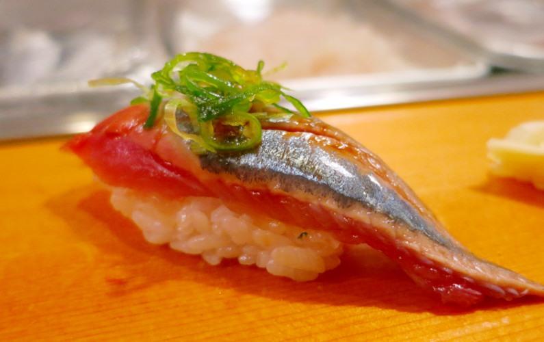 Mackerel Nigiri Sushi Dai Tokyo Japan