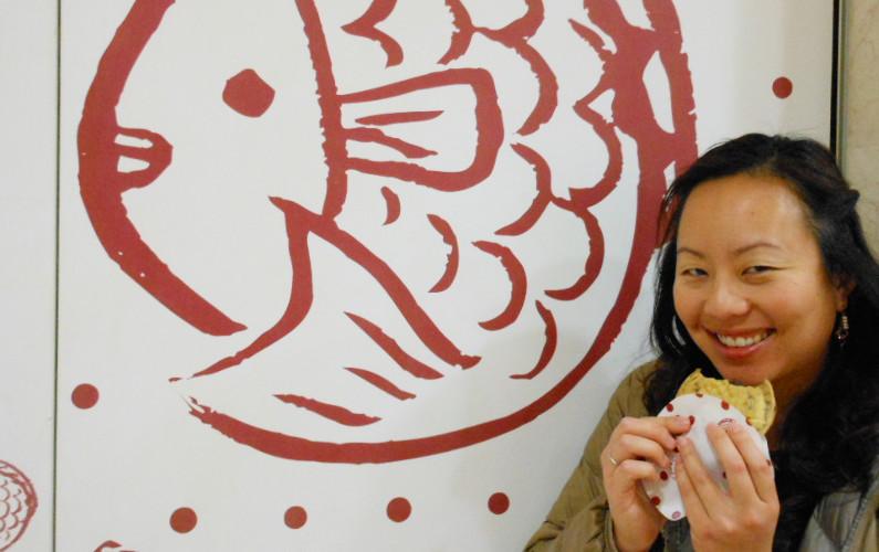 Nadia Eating Tetsuji Taiyaki